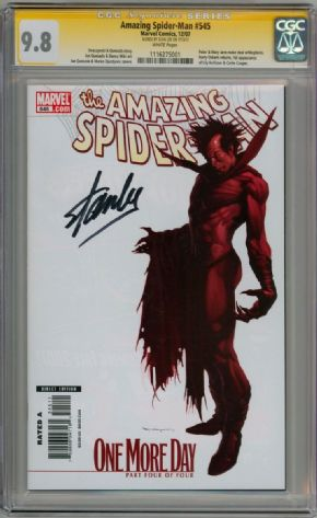 Amazing Spider-man #545 Variant CGC 9.8 Signature Series Signed Stan Lee Lily Hollister